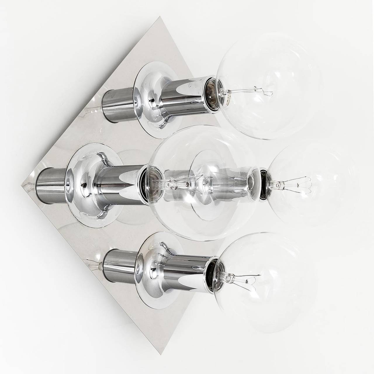 Chrome Flush Wall Lights : Pair of Flush Mount or Wall Light Fixtures Chrome Bubble Sputnik by Cosack 1970s For Sale at 1stdibs