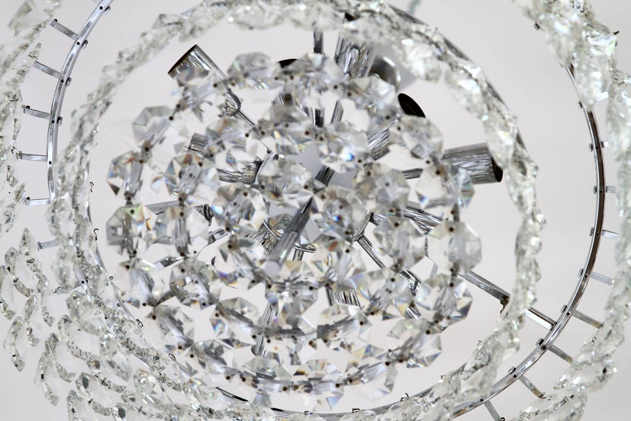 Impressive Crystal Chandelier By Bakalowits And Sons