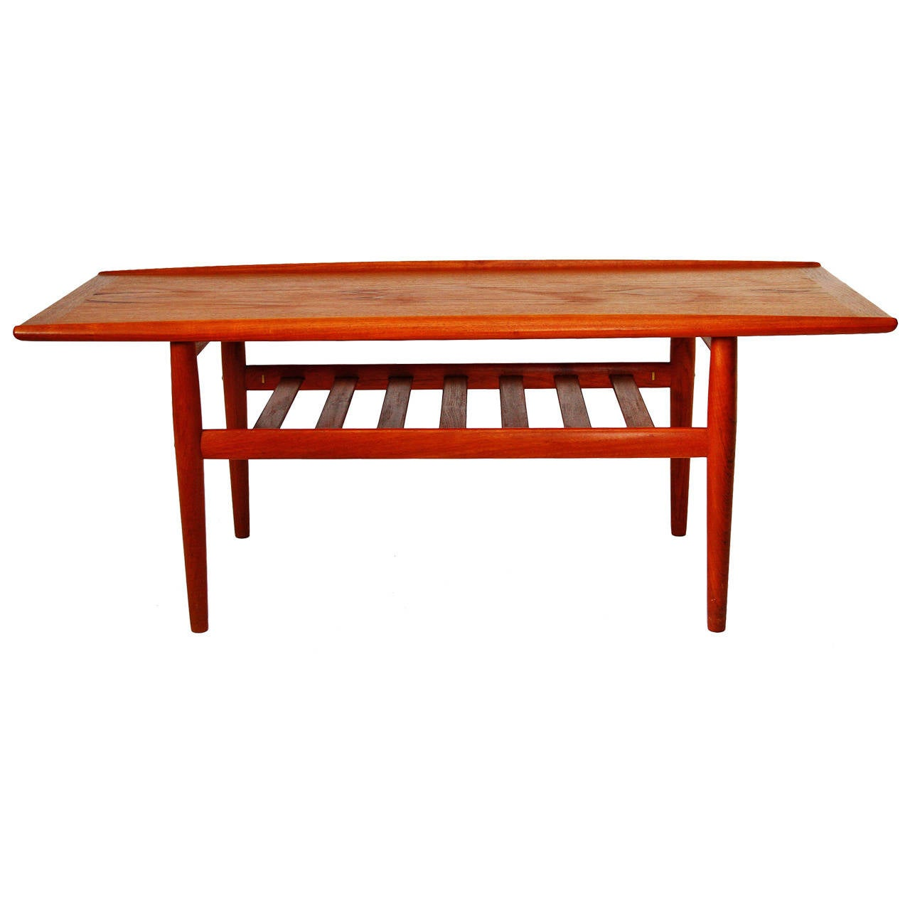 danish teak coffee table by grete jalk 1960s for sale at 1stdibs. Black Bedroom Furniture Sets. Home Design Ideas