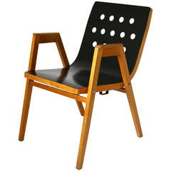 1950s Stacking Chair or Armchair Vienna City Hall by Roland Rainer