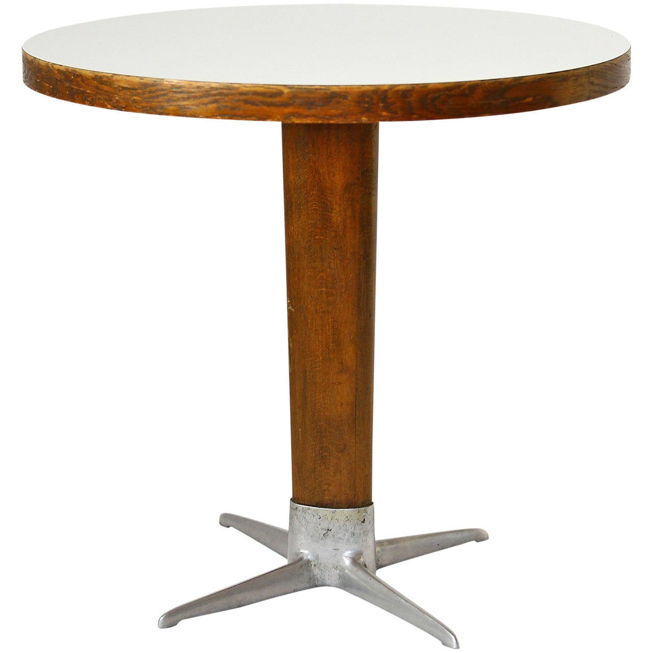Viennese Coffee End Side Pedestal Table By Oswald Haerdtl Thonet 1950s At 1stdibs