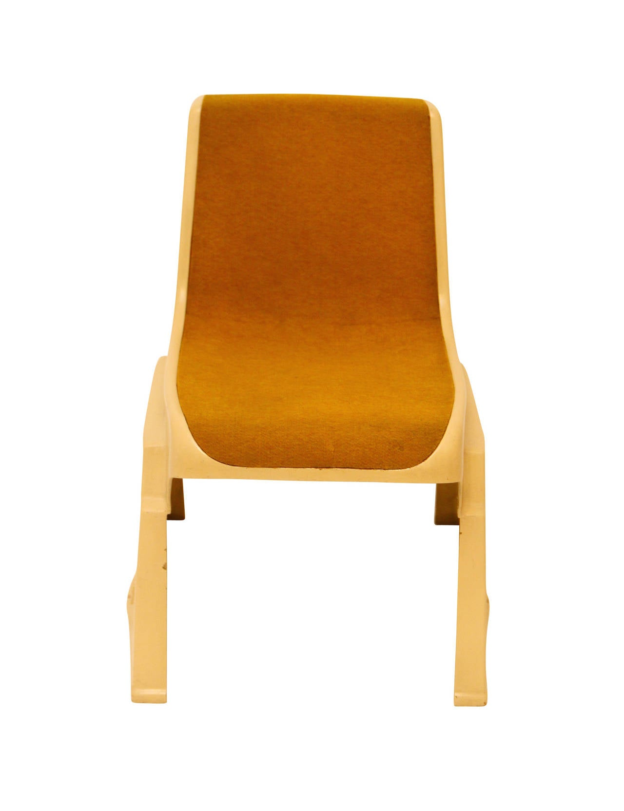 Fiberglass Up to 8 Very Rare Brutalist Austrian Stacking Chairs, 1970s For Sale