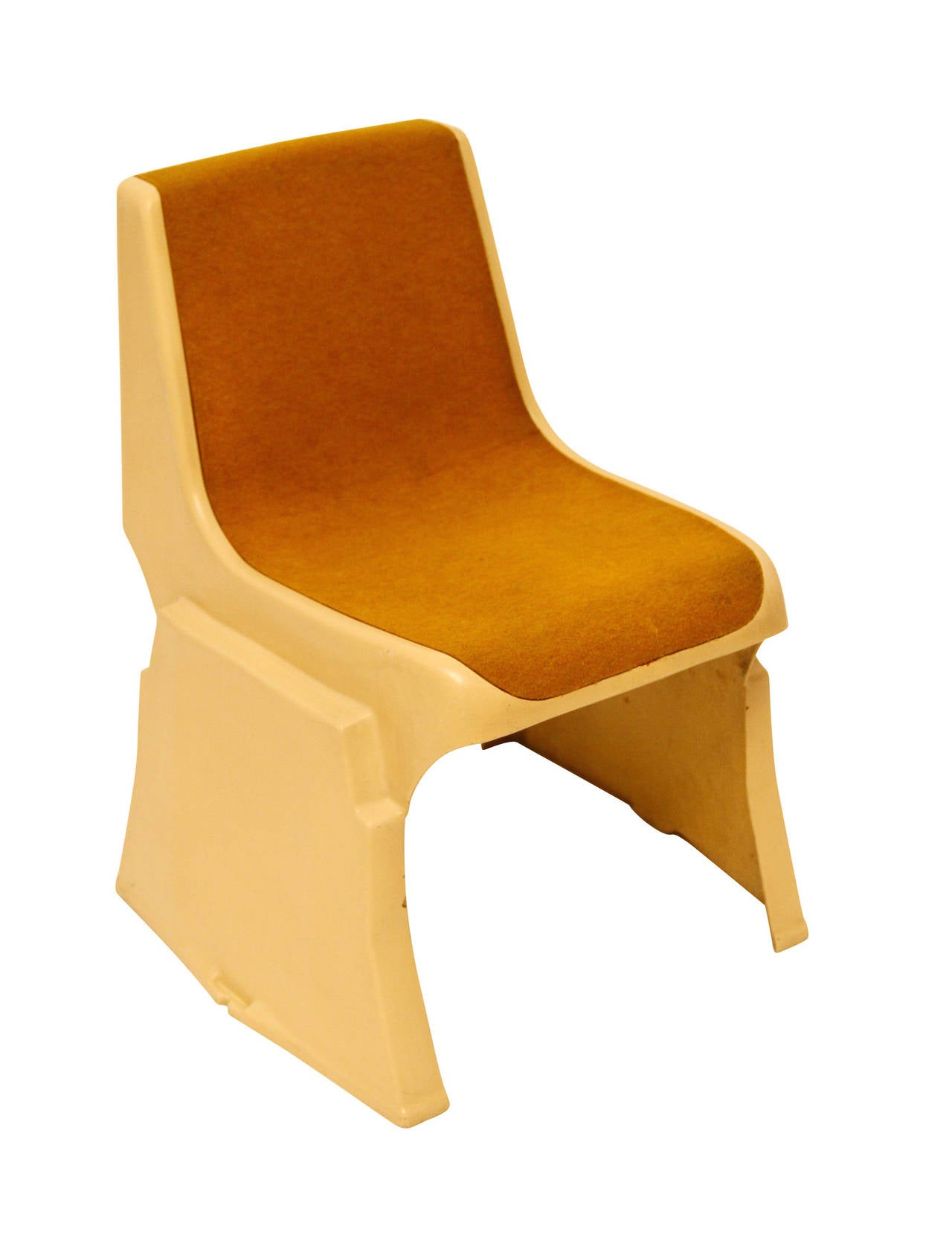 Late 20th Century Up to 8 Very Rare Brutalist Austrian Stacking Chairs, 1970s For Sale