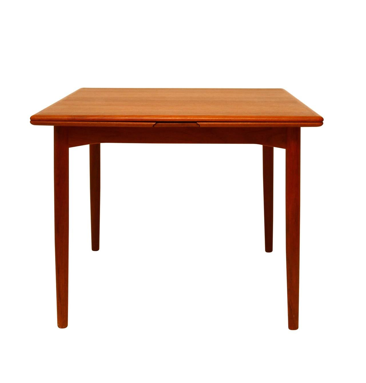 extension dining table teak danish modern at 1stdibs. Black Bedroom Furniture Sets. Home Design Ideas