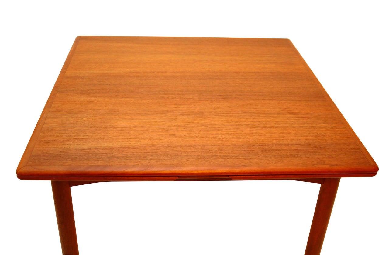 Extension Dining Table Teak Danish Modern At 1stdibs