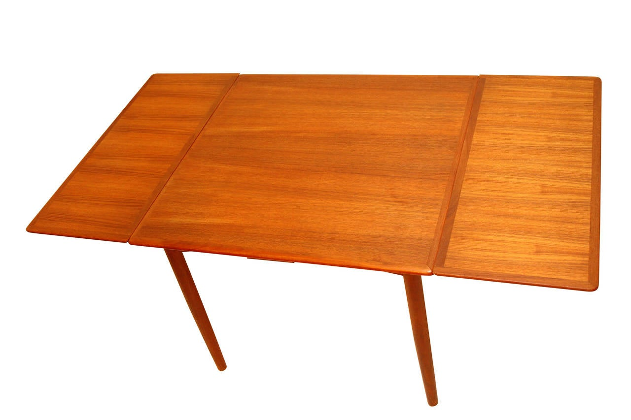 Extension dining table teak danish modern at 1stdibs - Scandinavian teak dining room furniture design ...