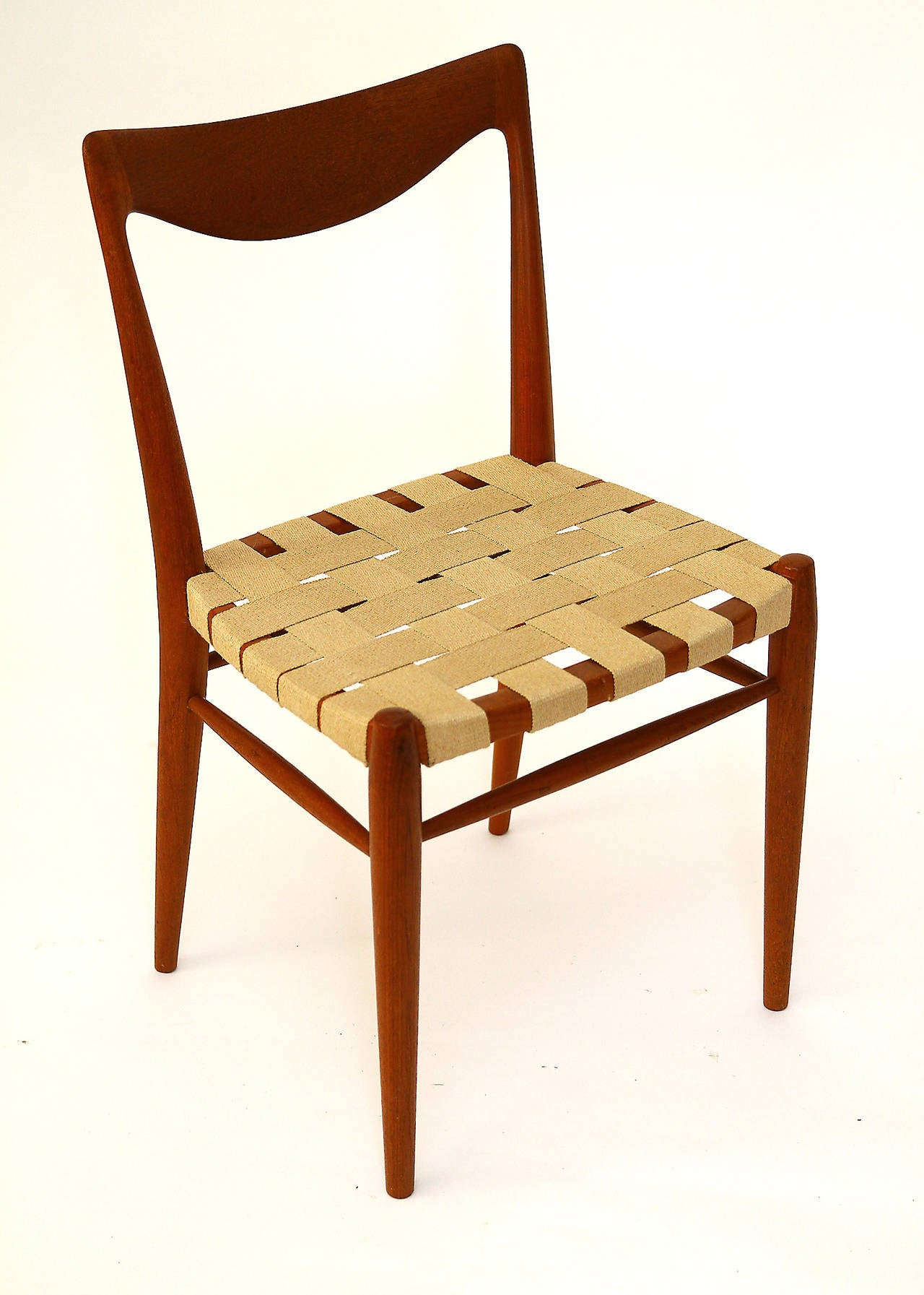 Scandinavian Modern Set of Six Niels Moller Style Teak Dining Chairs, 1960s For Sale