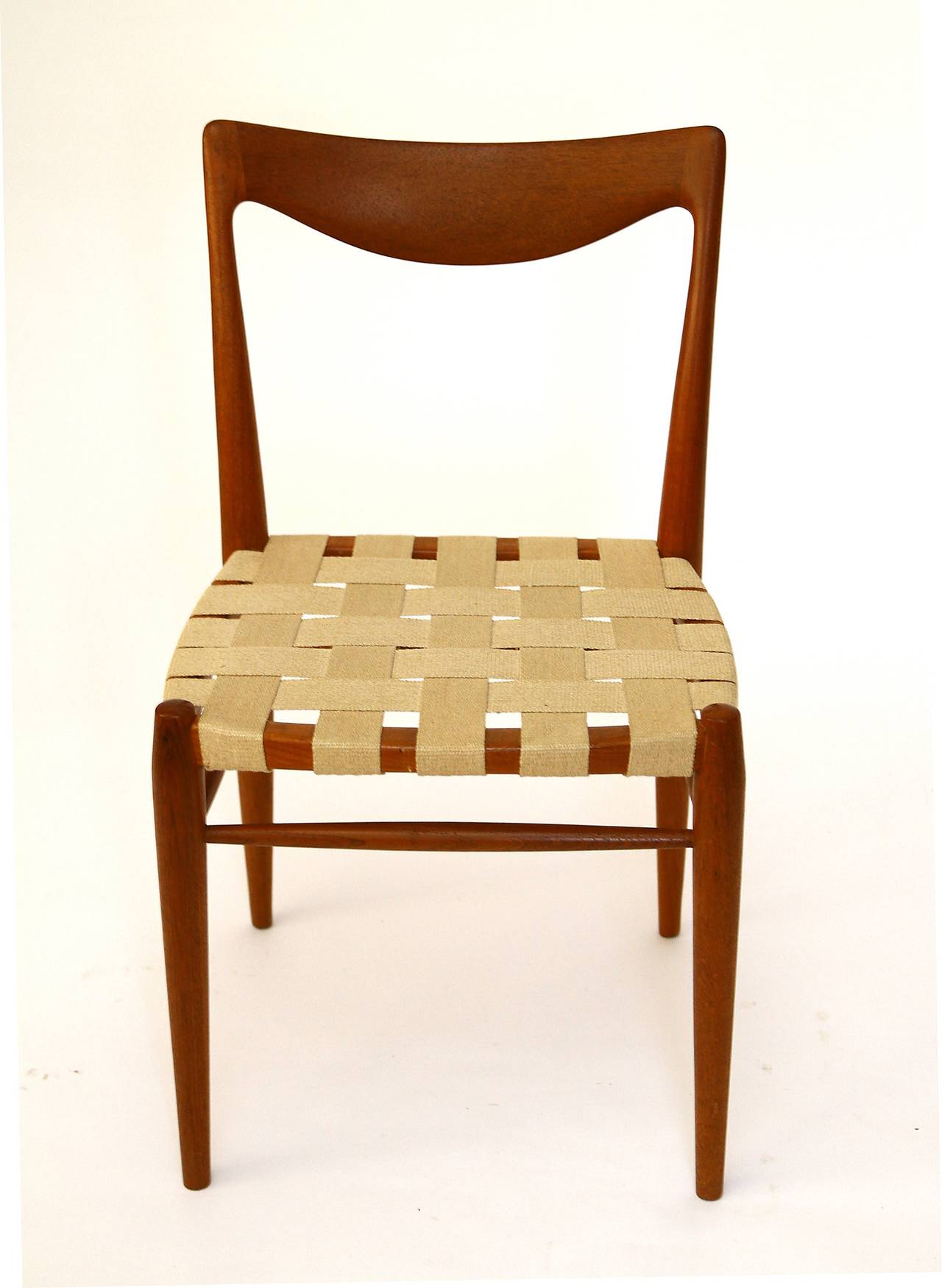 Danish Set of Six Niels Moller Style Teak Dining Chairs, 1960s For Sale