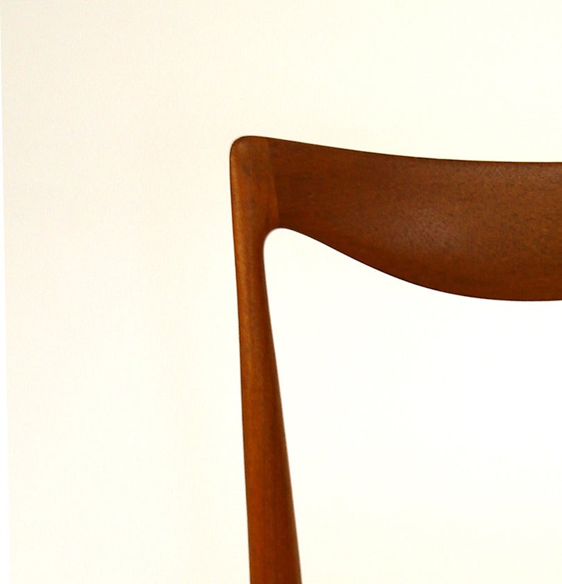 Set of Six Niels Moller Style Teak Dining Chairs, 1960s For Sale 2
