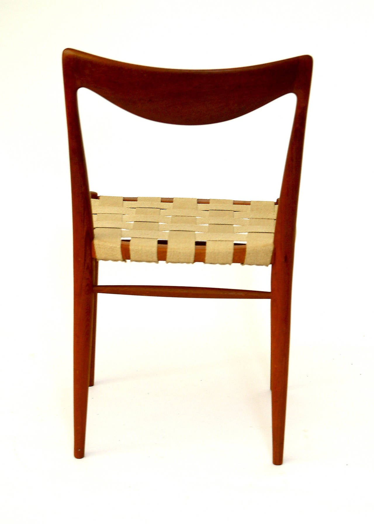 Mid-20th Century Set of Six Niels Moller Style Teak Dining Chairs, 1960s For Sale