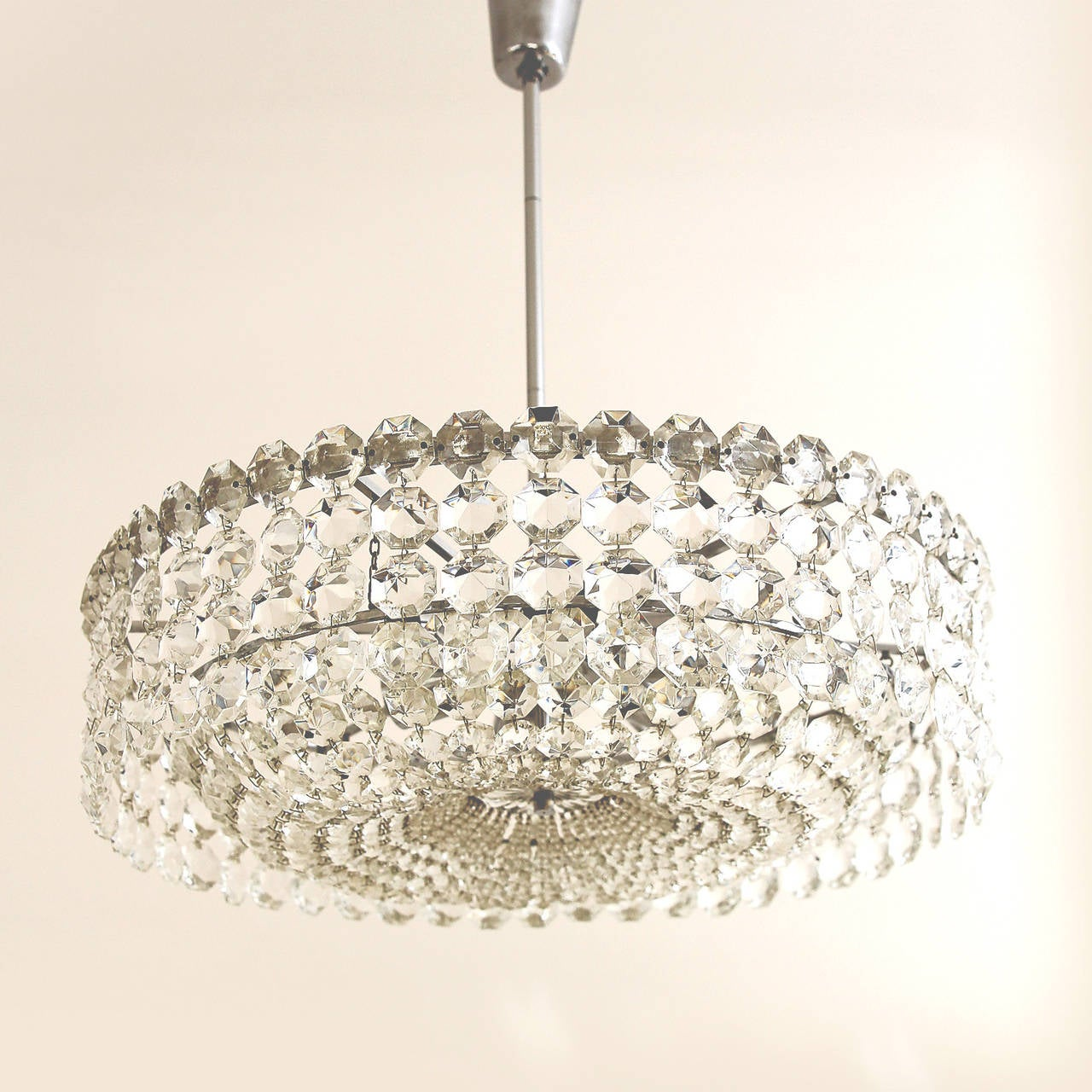 Very Beautiful Viennese Crystal Chandelier By Bakalowits