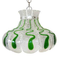 Carlo Nason Glas Lampe Pendelleuchte Kronleuchter, 1960er Jahre