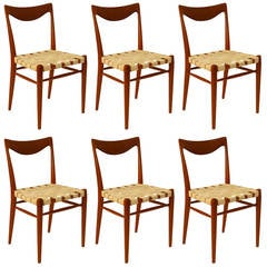 Set of Six Niels Moller Style Teak Dining Chairs, 1960s