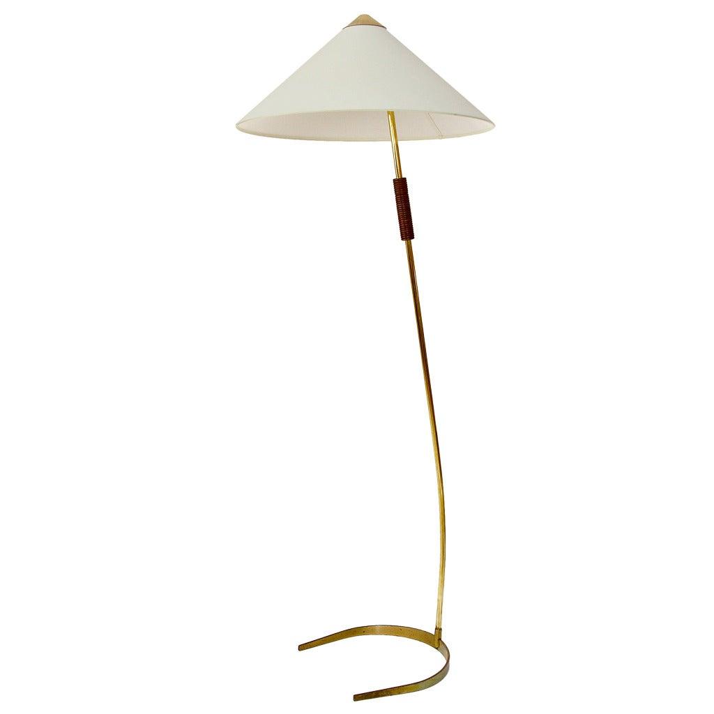 Austrian brass floor lamp 1950s at 1stdibs for 1950s floor lamps