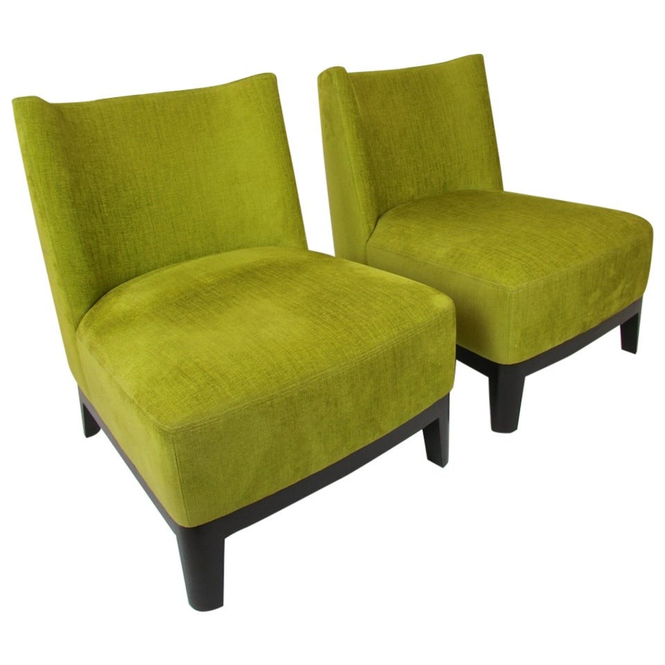 Pair Of Christian Liaigre For Holly Hunt Mandarin Chairs At 1stdibs