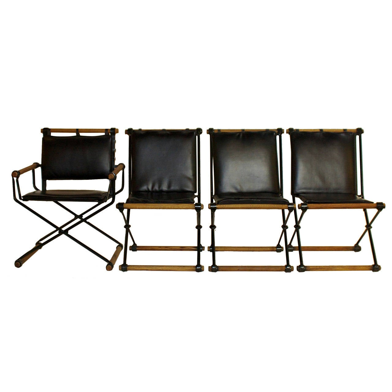 Set Of Four Campaign Style Chairs By Cleo Baldon 1