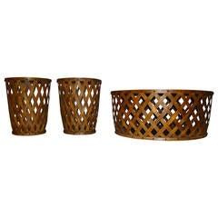 Henredon Set of Three Ash Drum Tables