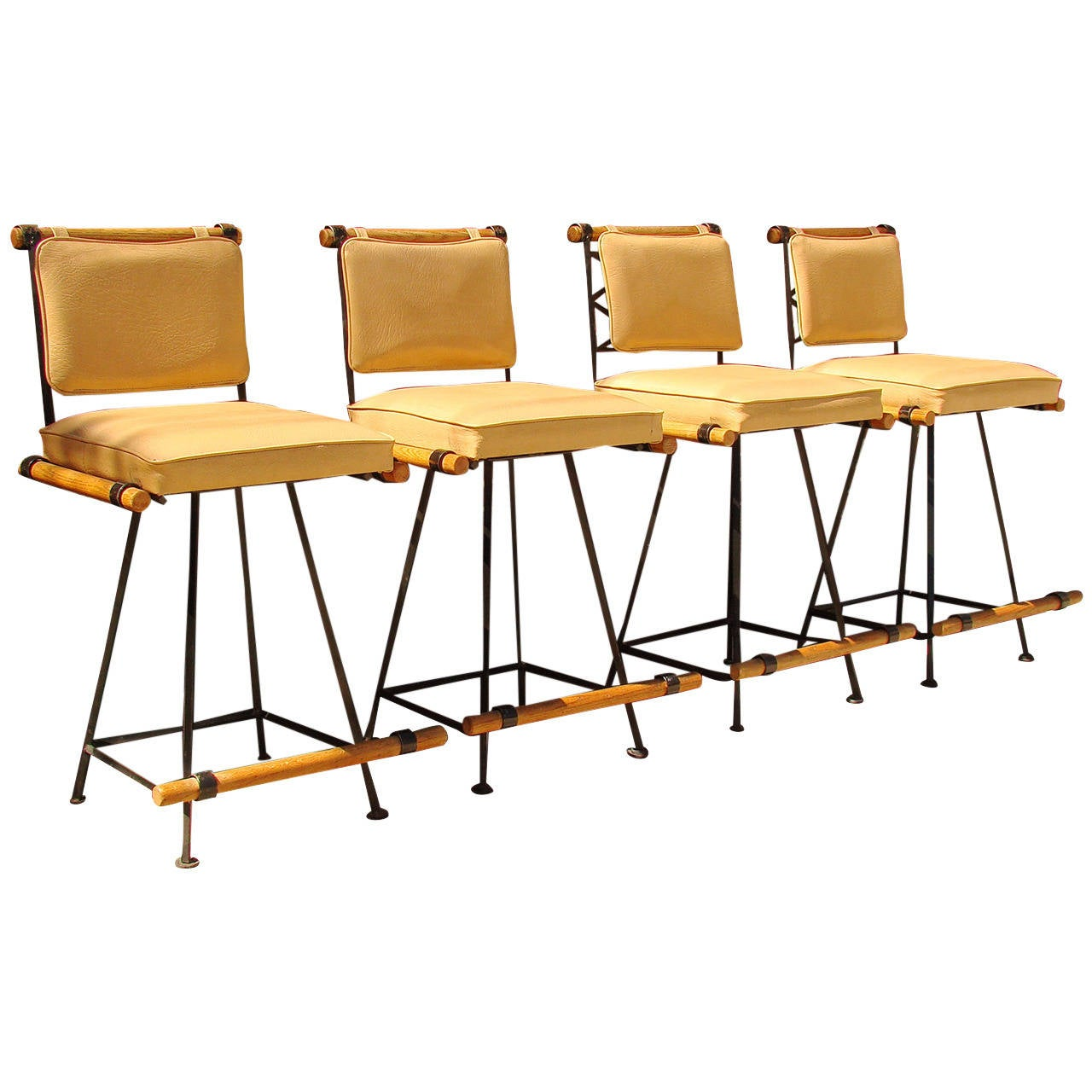 Four Counter Stools by Cleo Baldon Vintage Originals at