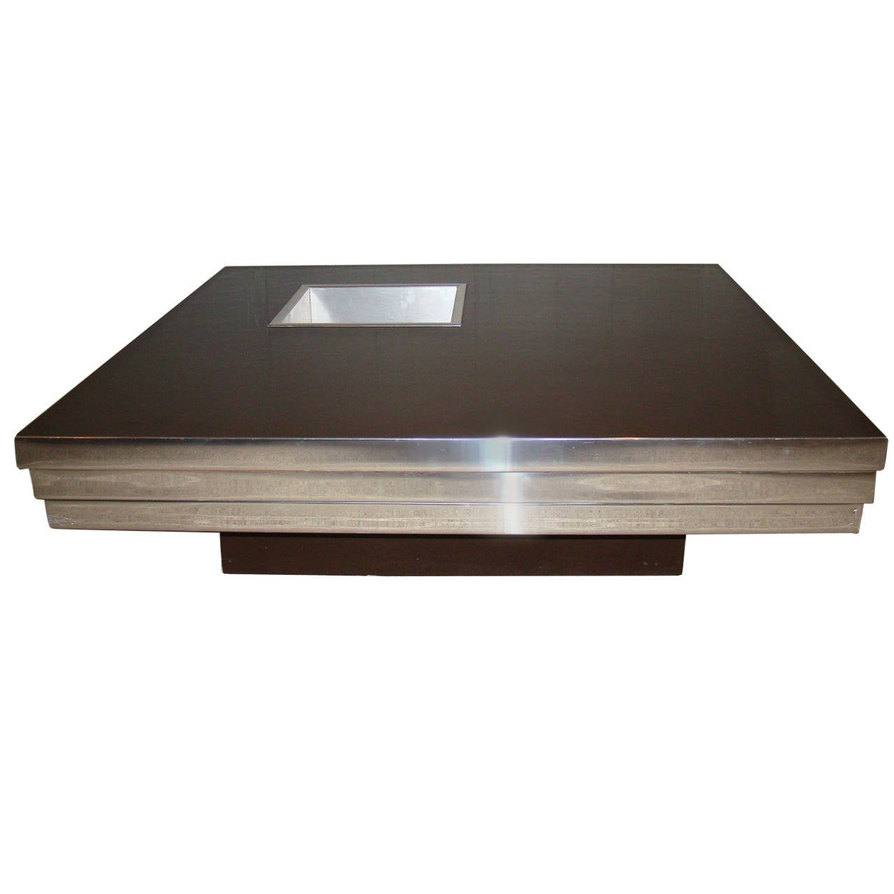 Stunning Stainless Steel Coffee Table By Pierre Cardin At 1stdibs
