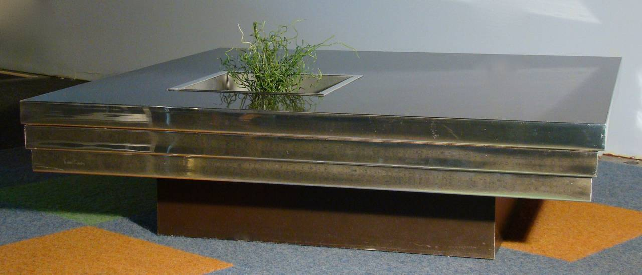 Captivating Stunning Stainless Steel Coffee Table By Pierre Cardin 2