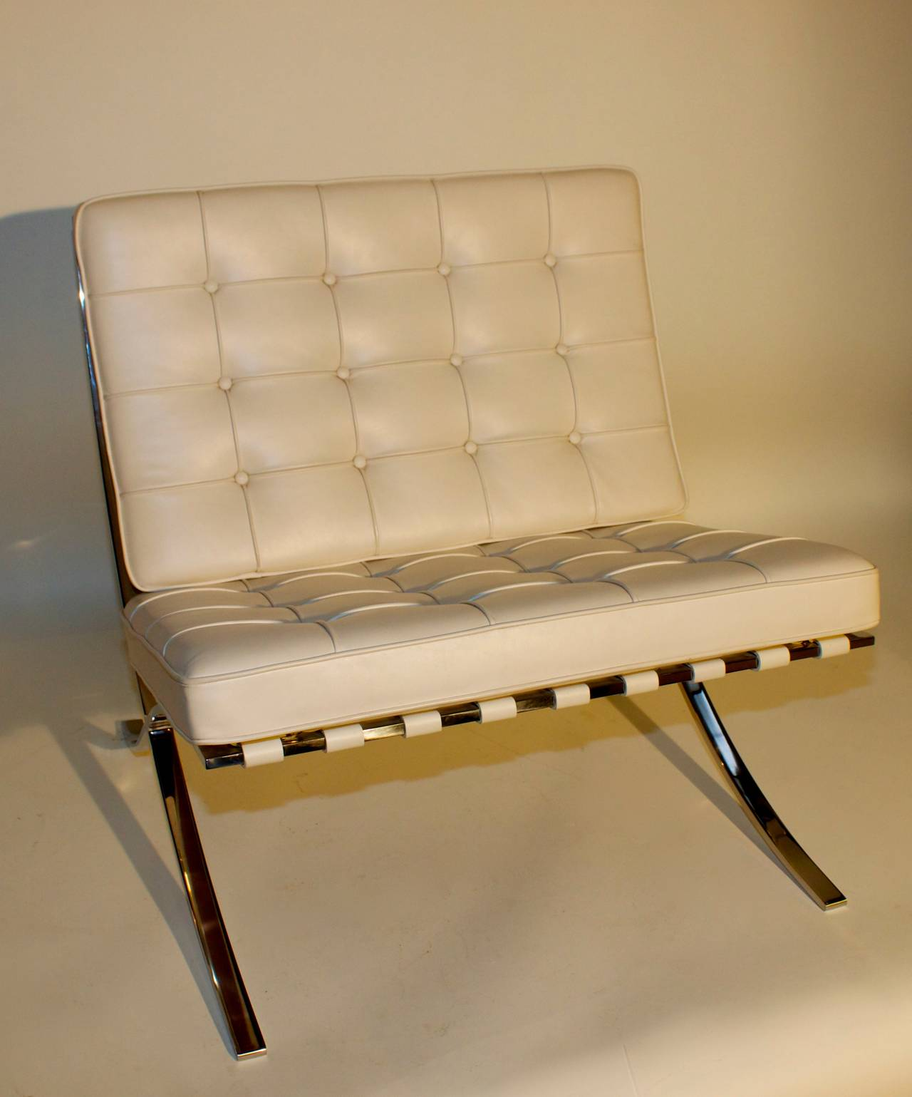 knoll barcelona chair and ottoman at 1stdibs. Black Bedroom Furniture Sets. Home Design Ideas