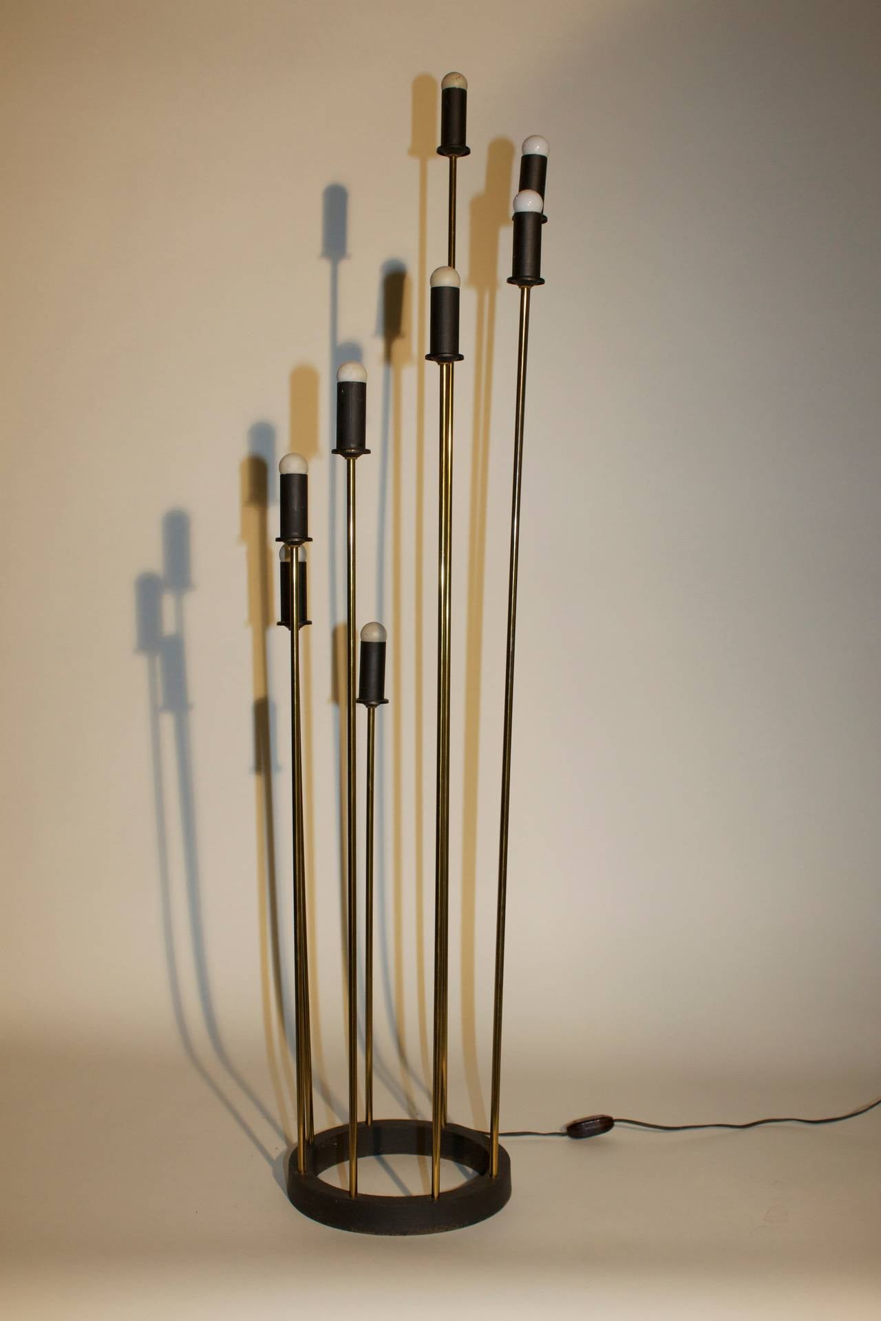 Cattail Floor Lamp At 1stdibs
