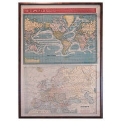 Framed Print of World Maps