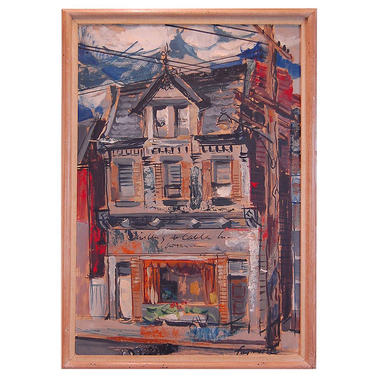 Original Fay Moore Painting, Pittsburgh