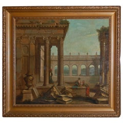 19th Century Architectural Ruins, Oil on Canvas