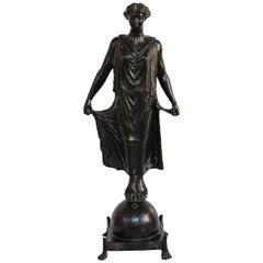 19th Century Bronze Statue of Female Figure, in the Style of G. Nisini, Roma