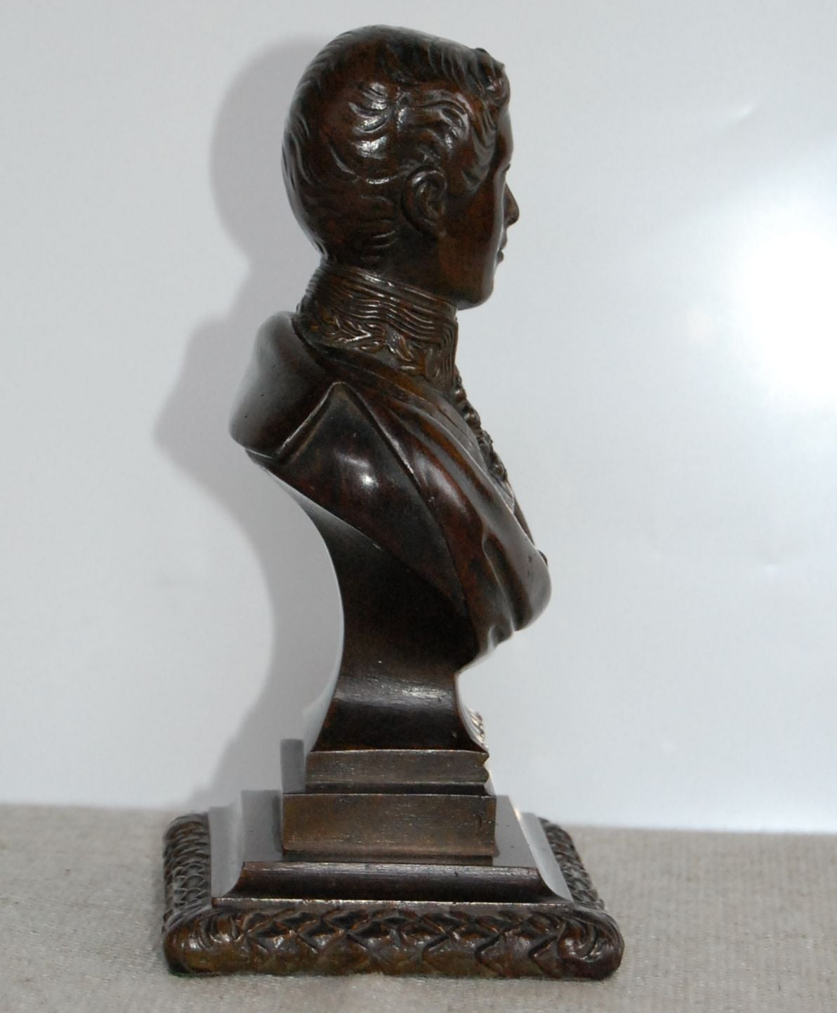 English Bronze Bust of the Prince Regent, 19th Century For Sale