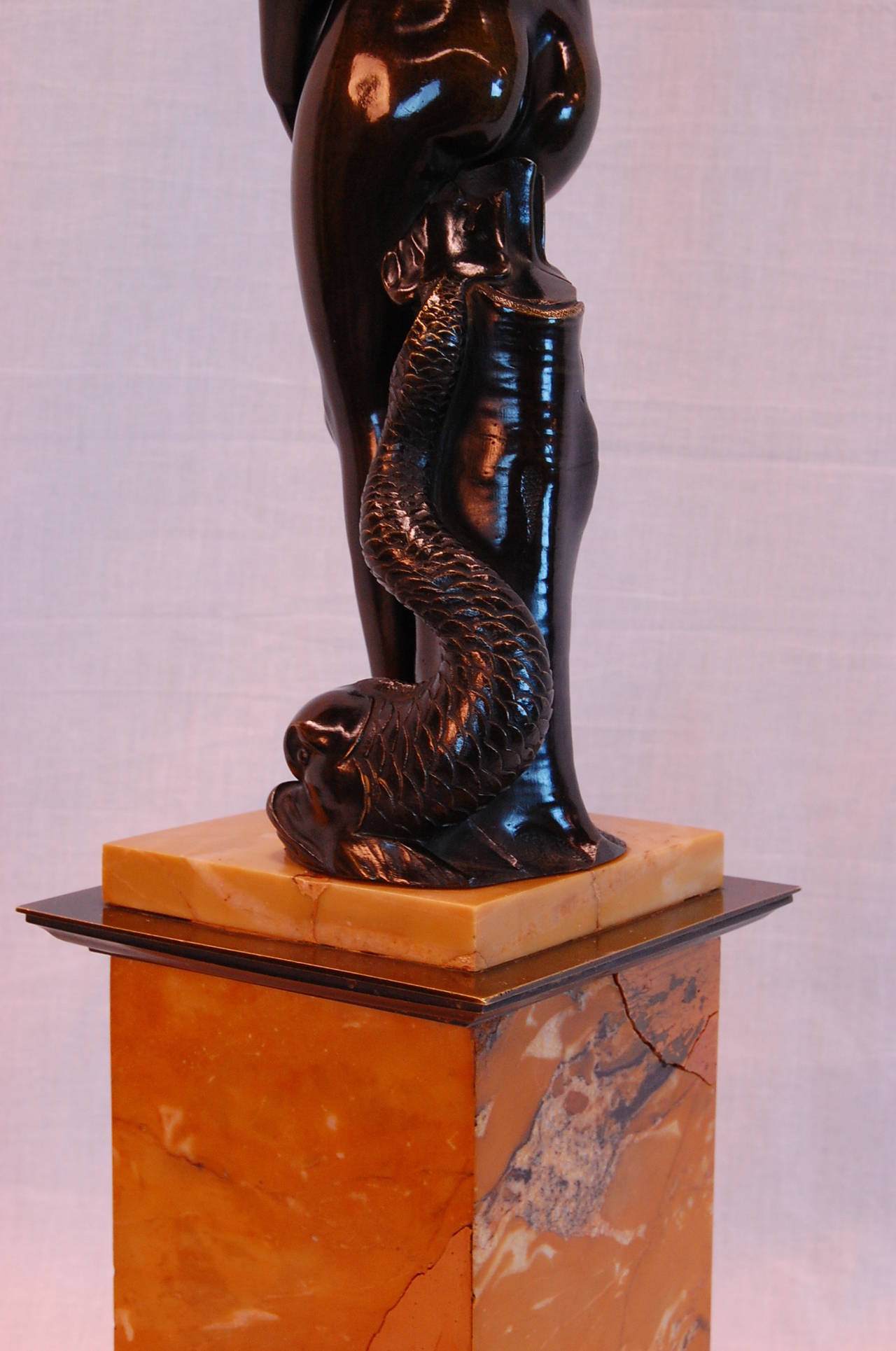 Bronze Venus de Medici with Dolphin of the Grand Tour, Late 19th Century For Sale 3