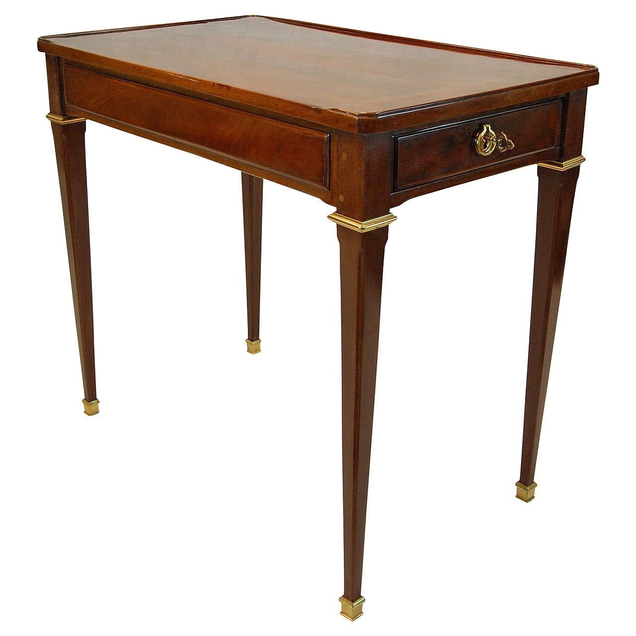 royal louis xvi mahogany table ecrire circa 1787. Black Bedroom Furniture Sets. Home Design Ideas