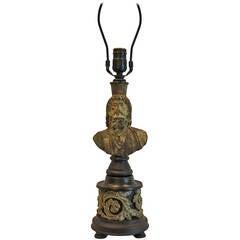 Lamp Base of 19th Century Roman Head