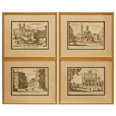 Set of Four Framed Italian Prints