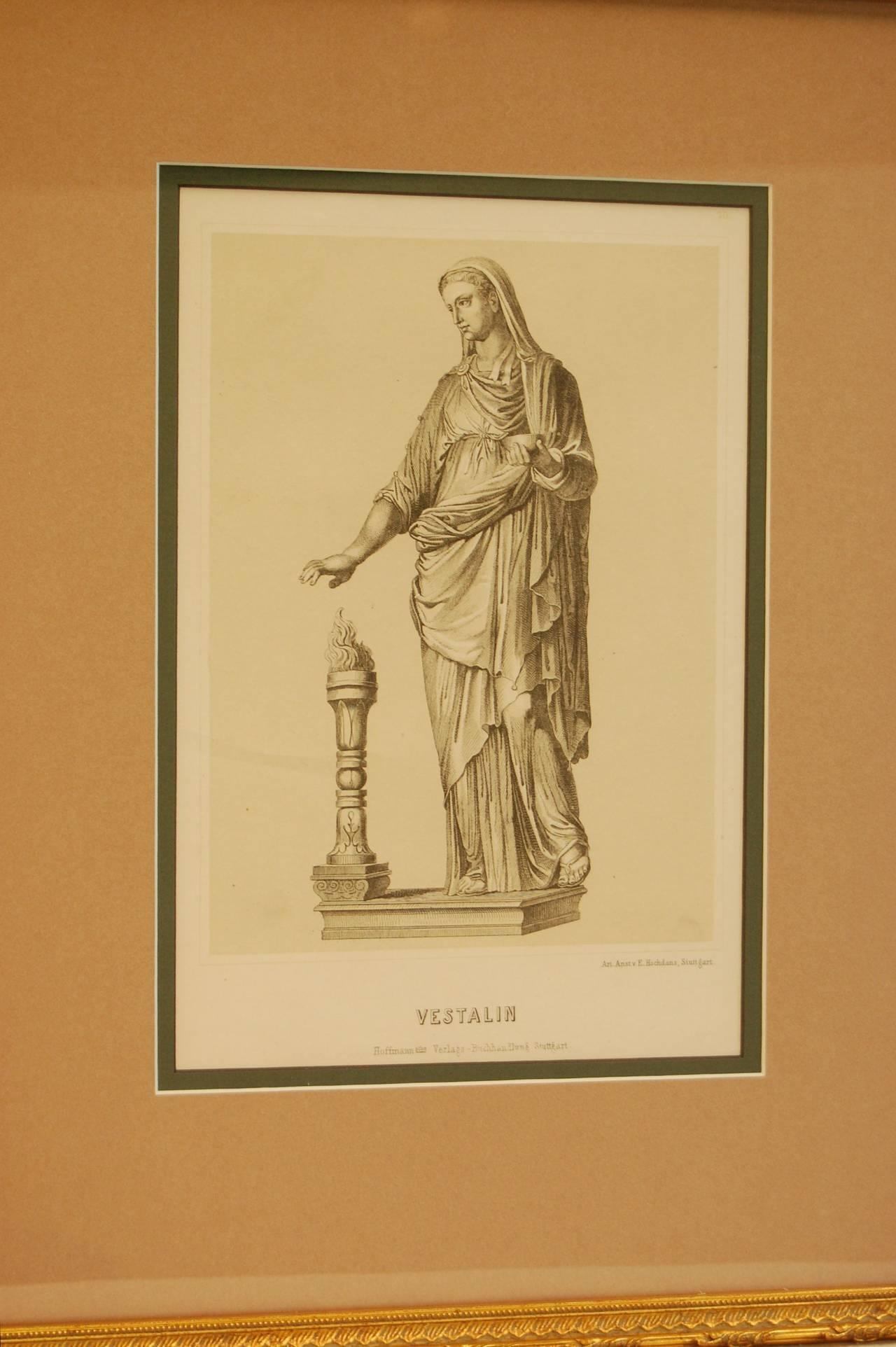 Classical Roman 19th Century German Print