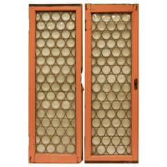 Two 19th Century Bull's-Eye Leaded Glass Windows