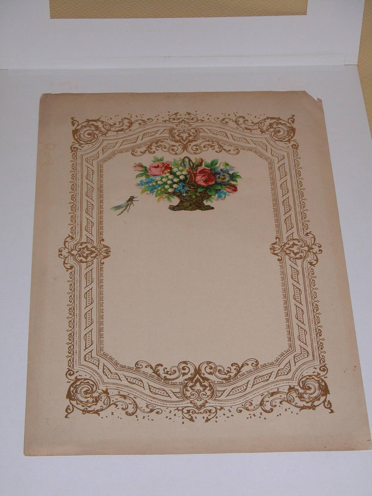 Large Mid-19th Century Valentines Card in Custom Mat For Sale 2