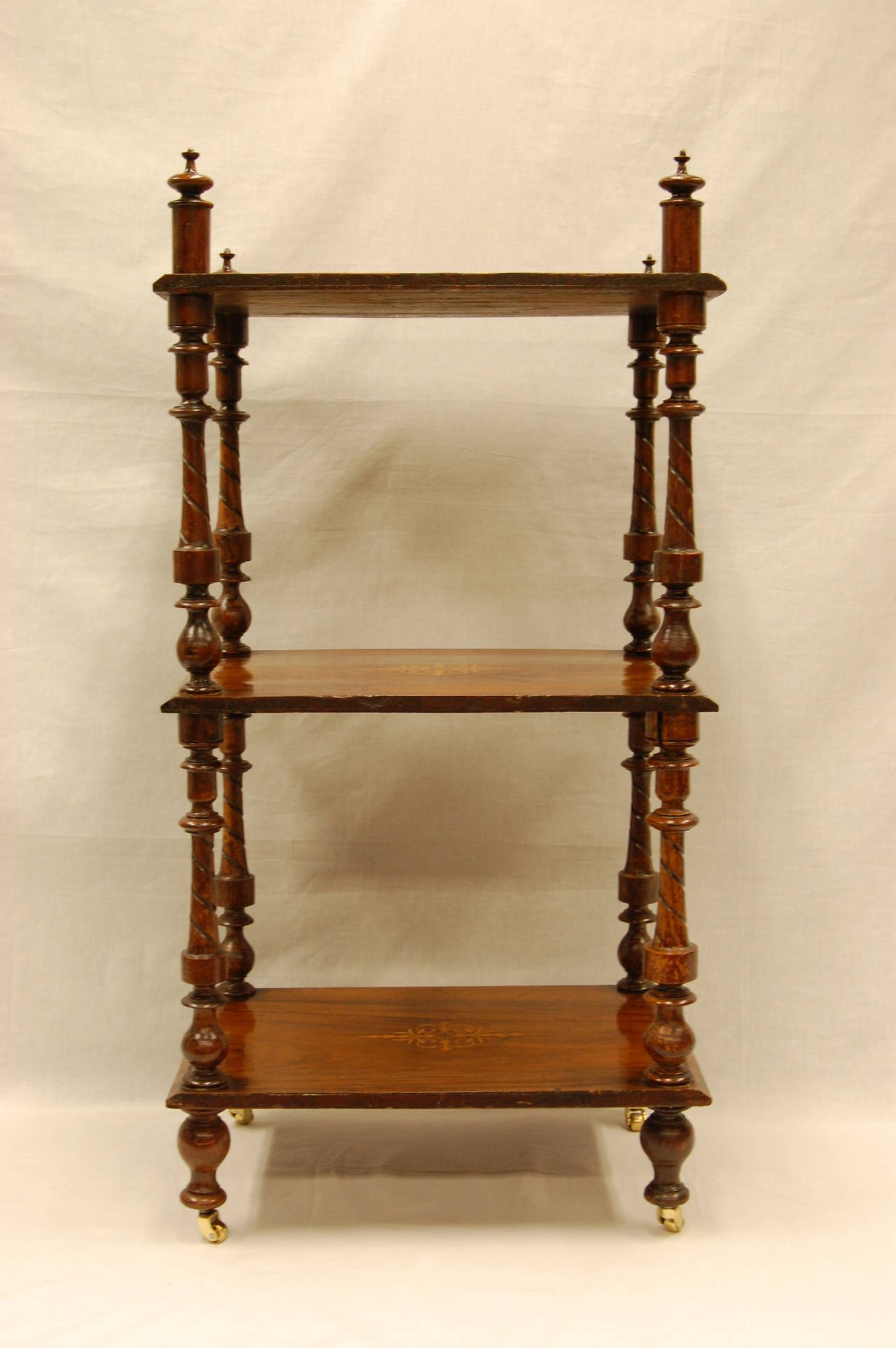Early 19th Century Early Victorian Era Rosewood Book Stand with Satinwood Banding For Sale