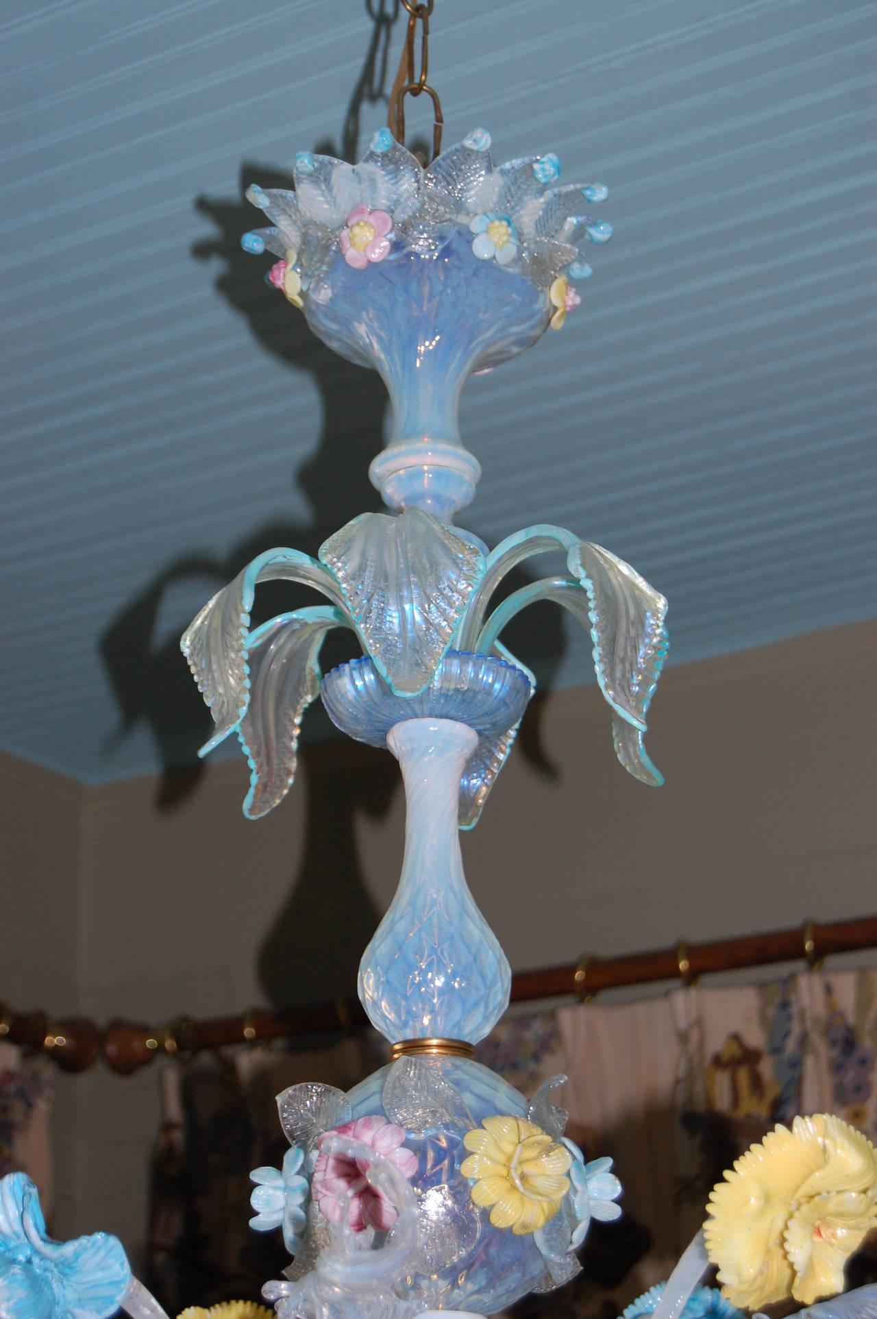 Early 20th Century Venetian Six Light Chandelier For Sale