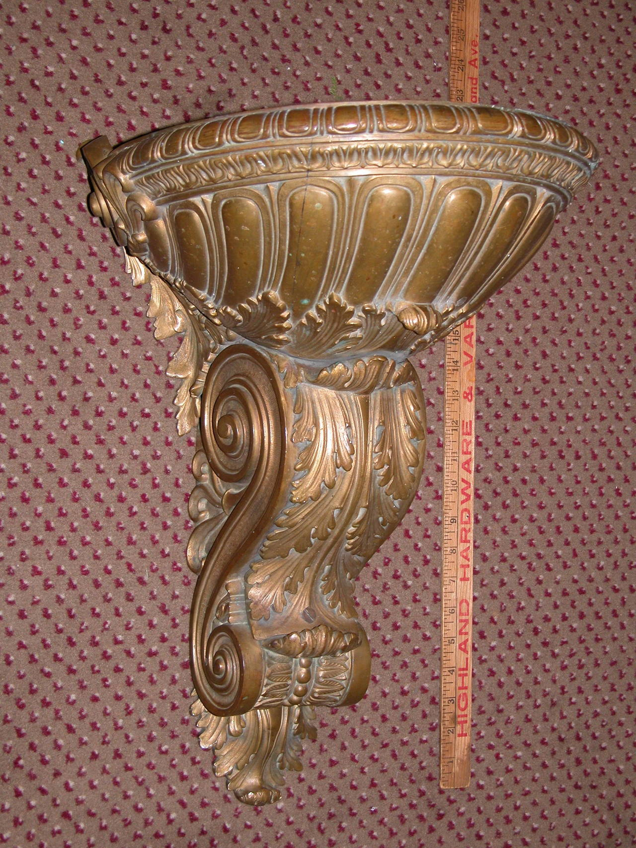 French 19th Century Bronze Wall-Mounted Up-Light For Sale