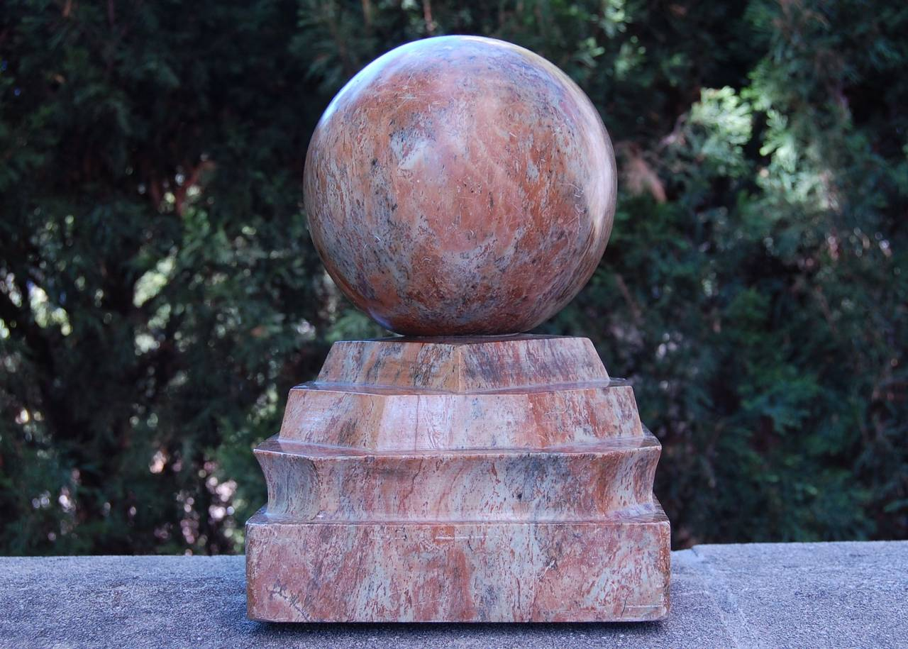 Large Carved Marble Finial
