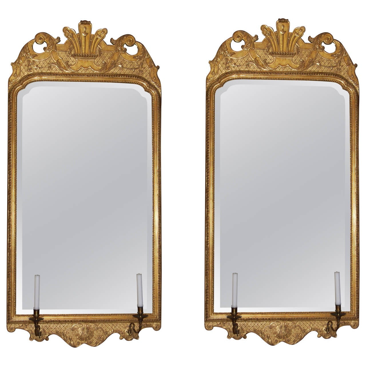 Arched gilt mirror at 1stdibs - Two Turn Of The Century Gilt Mirrors In The Style Of George Ii 1