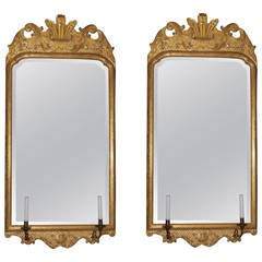 Two Turn of the Century Gilt Mirrors in the Style of George II
