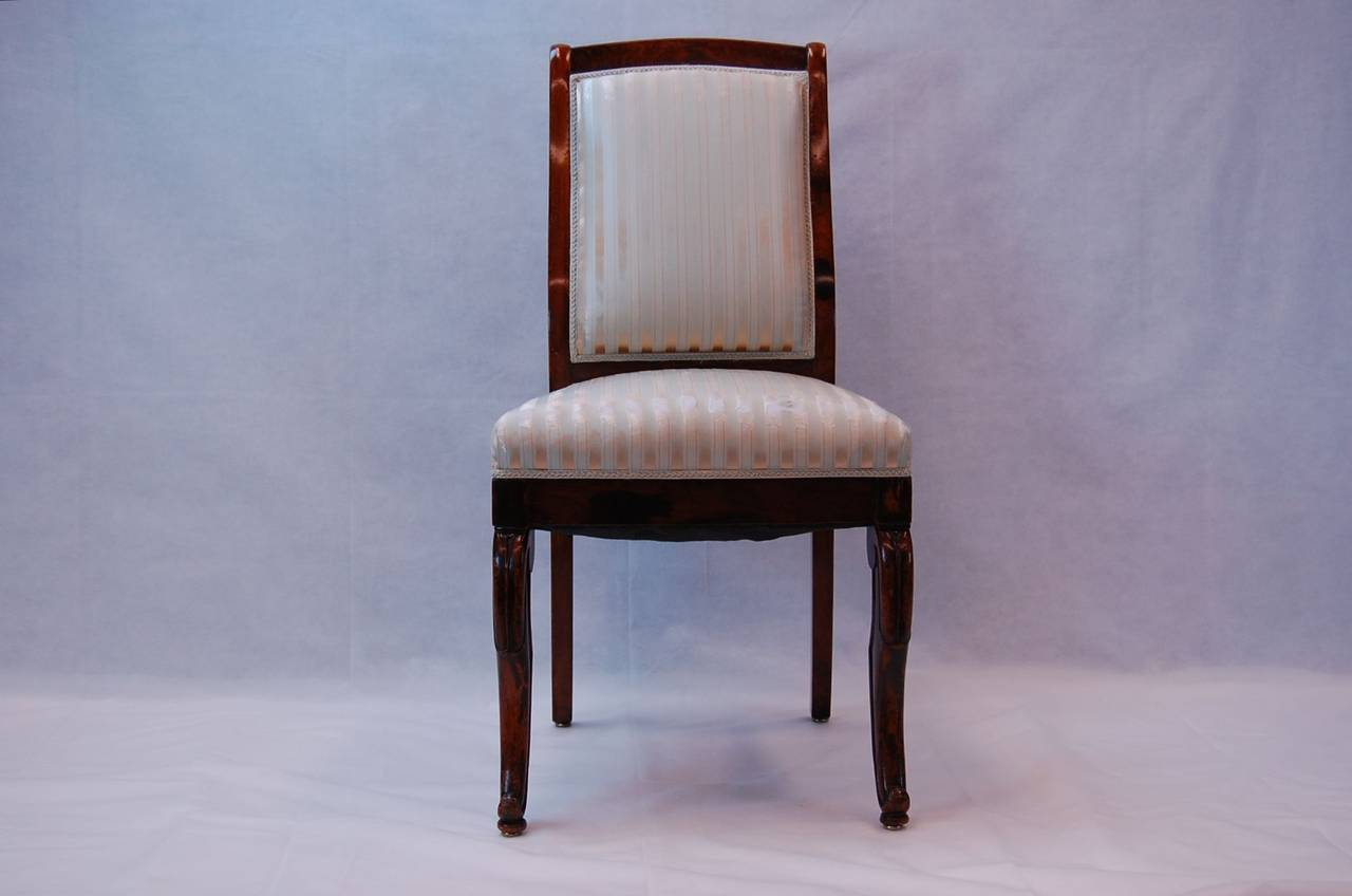 19th Century French Rosewood Side Chairs, Set of Four For Sale 1