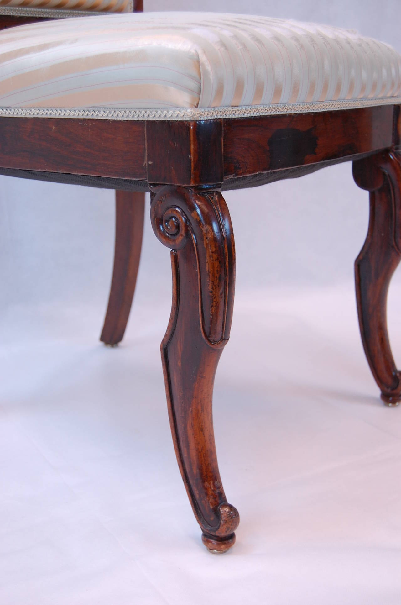 19th Century French Rosewood Side Chairs, Set of Four For Sale 5