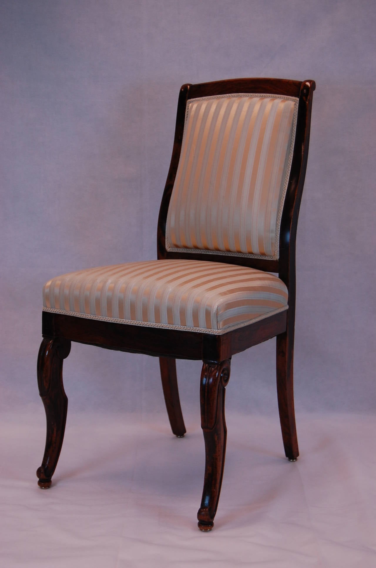 19th Century French Rosewood Side Chairs, Set of Four For Sale 2