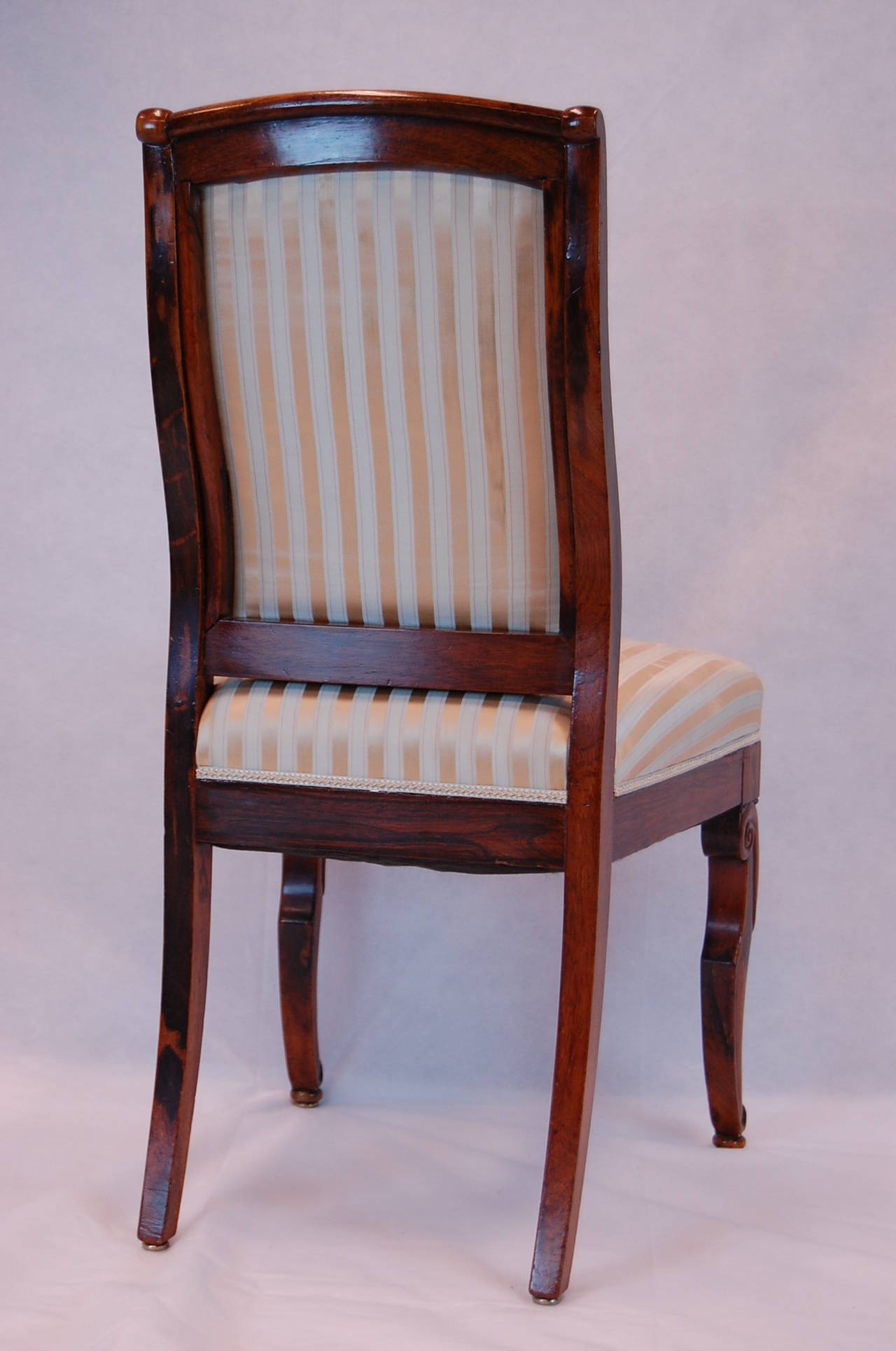 19th Century French Rosewood Side Chairs, Set of Four For Sale 4