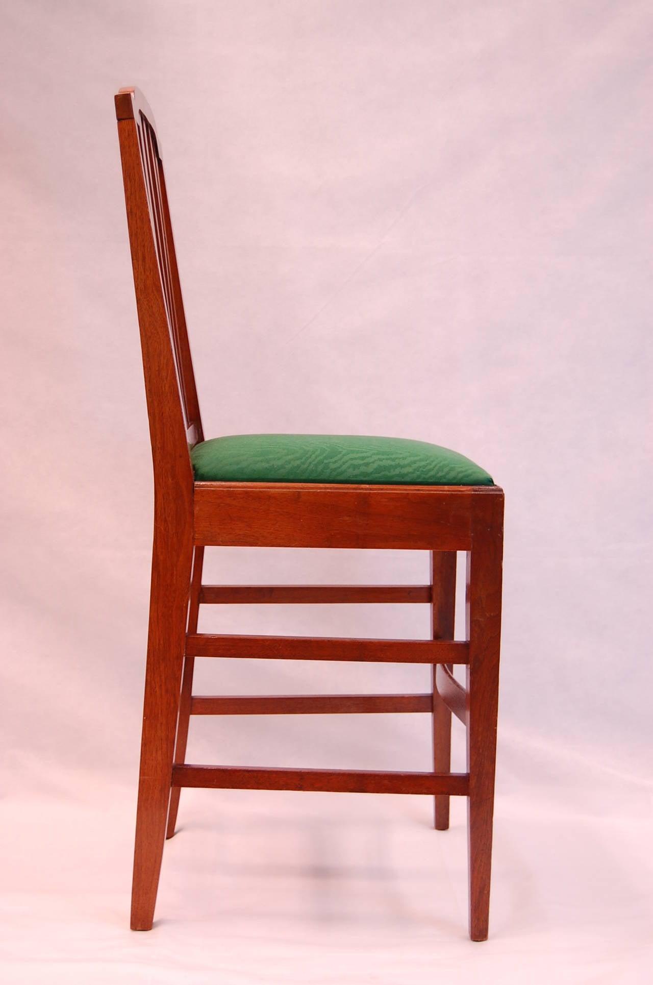 Mahogany Bar Chair For Sale at 1stdibs