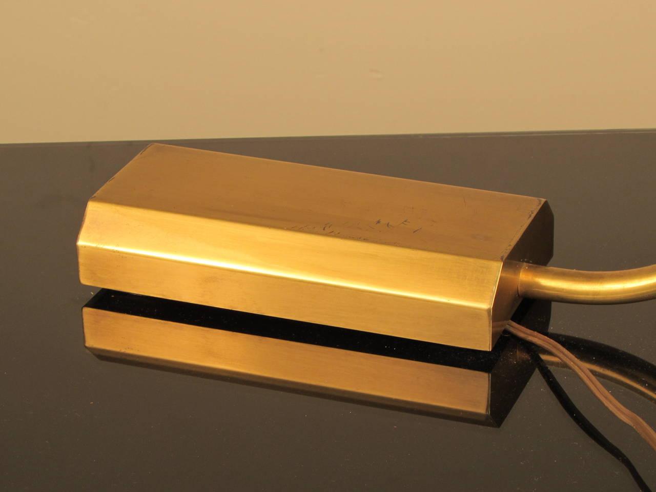 Sleek bauhaus inspired brass desk lamp by chapman at 1stdibs for Replica bauhaus